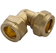 Plumbsure Compression 90° Pipe elbow (Dia)15mm