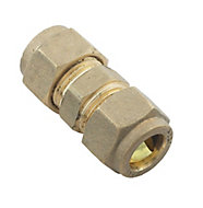 Plumbsure Compression Straight Coupler (Dia)10mm