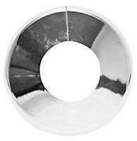 Plumbsure M446CQV3 Plastic Chrome effect Pipe collar (Dia)28mm, Pack of 5
