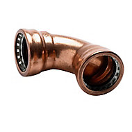 Plumbsure Push-fit 90° Pipe elbow (Dia)22mm