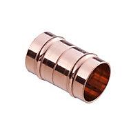 Plumbsure Solder ring Coupler (Dia)8mm, Pack of 2