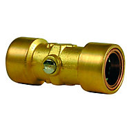 Plumbsure Straight Push-fit Service Valve, 15mm