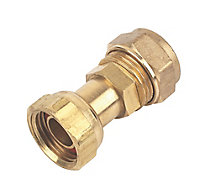 Plumbsure Straight Tap connector, (L)47.2mm