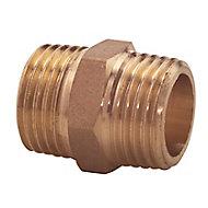 "Plumbsure Threaded Central heating Pipe nipple, ¾"""