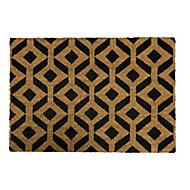 Primeur Fashion Geo trellis Dark grey Coir & PVC Door mat (L)0.4m (W)0.58m