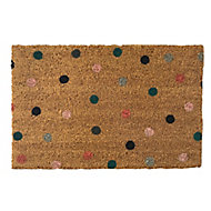 Primeur Fashion Multi spot Multicolour Coir & PVC Door mat (L)0.4m (W)0.58m