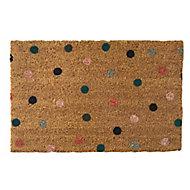 Primeur Fashion Multi spot Multicolour Coir & PVC Door mat (L)0.4m (W)0.58m