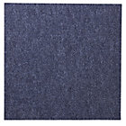 B&Q Blue Loop Carpet tile, (L)50cm, Pack of 10