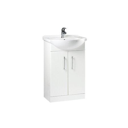 B Q White Vanity Unit Basin Departments Diy At B Q