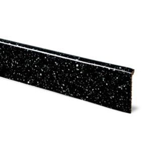 Image of 12mm Astral Black Laminate Upstand Square Edge
