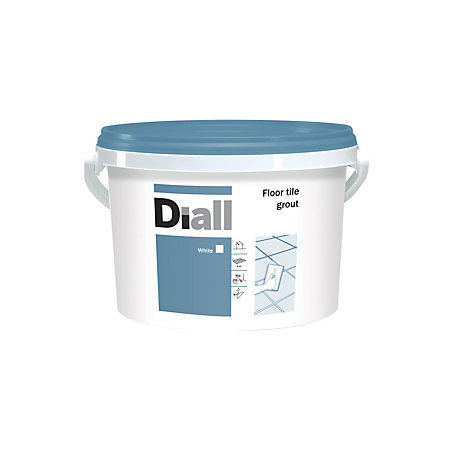 Diall White Floor Tile Grout (W)3.75kg | Departments | DIY ...