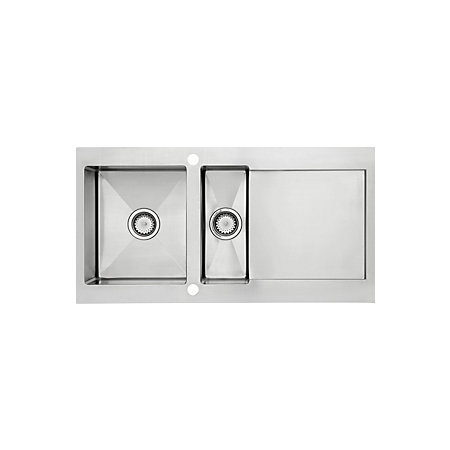 Cooke & Lewis Vetta 1.5 Bowl Polished Stainless Steel Sink ...