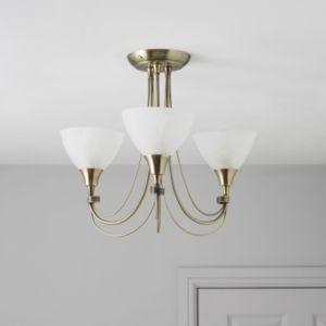Alfaro alabaster 3 lamp ceiling light