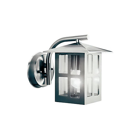 Vermont Stainless Steel Effect Mains Ed Outdoor Wall Lantern Departments Diy At B Q