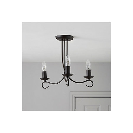 ceiling flush lights spiral glass black shades frosted satin light