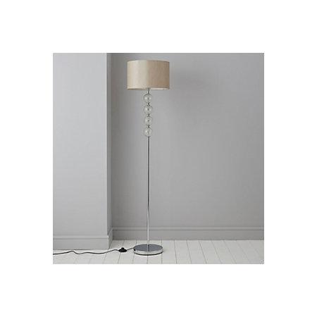 Gina cream chrome effect floor lamp departments diy at bq 000 000 aloadofball Images