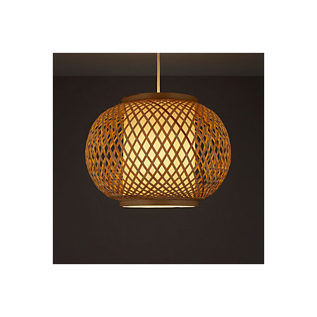 Joyce natural rattan with inner diffuser light shade d330mm 000 000 aloadofball Choice Image