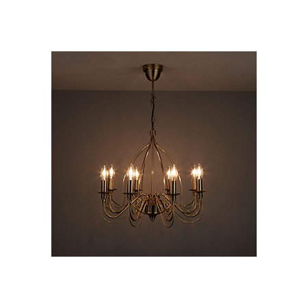 Vas birdcage gold 8 lamp pendant ceiling light departments diy 000 000 mozeypictures Image collections