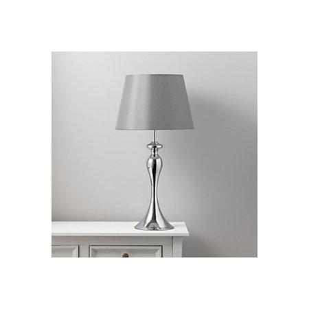 Samantha grey chrome effect table lamp departments diy at bq 000 000 aloadofball Gallery
