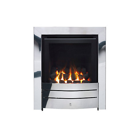 Ignite Maine Chrome Effect Manual Control Inset Gas Fire