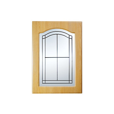 It kitchens chilton traditional oak effect glazed door w for Kitchen cabinets 500mm