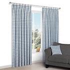 Chenoa Blue & white Check Pencil pleat Lined Curtains (W)228 cm (L)228 cm