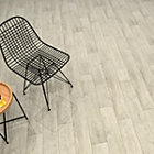 Deep wood Grey Wood effect Porcelain Wall & floor tile, Pack of 8, (L)900mm (W)150mm