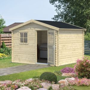 Image of 10X9 (8.1M2) Belaïa Apex Tongue & Groove Wooden Shed with Floor