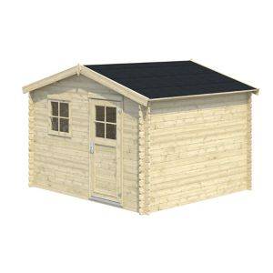 Image of 10x9 BELAÏA Apex roof Tongue & groove Wooden Shed with floor