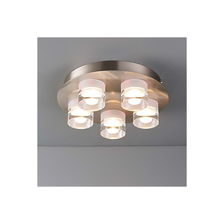 competitive price 6bb0e c8fdf Reece Chrome effect 5 Lamp Flush Ceiling light | Departments | DIY at B&Q