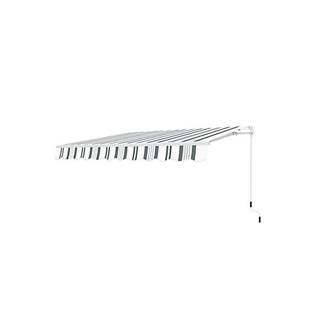 3m Grey & white Retractable Awning | Departments | DIY at B&Q