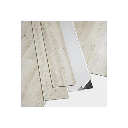 Goodhome Poprock Rustic White Wood Effect Self Adhesive