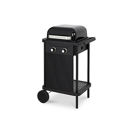 blooma 200 black rockwell 2 burner gas barbecue departments diy at b q. Black Bedroom Furniture Sets. Home Design Ideas