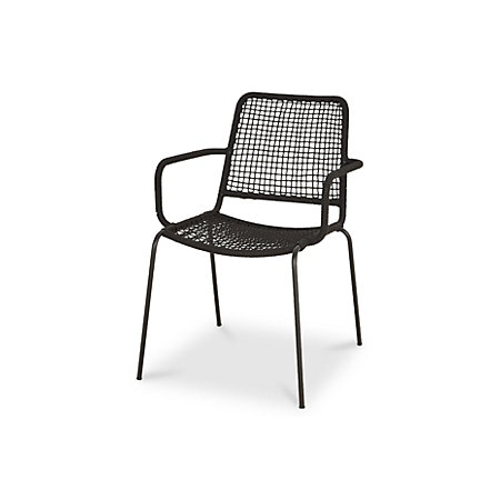 Admirable Oberon Black Metal Armchair Departments Diy At Bq Customarchery Wood Chair Design Ideas Customarcherynet
