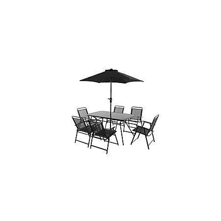 Bahama Metal 6 Seater Dining Set