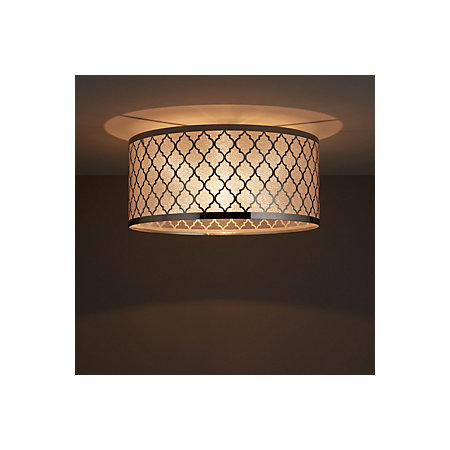 Aula Brushed Chrome Effect Ceiling Light Departments Diy At B Q