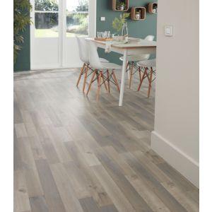 Image of Addington Grey Oak effect Laminate flooring Sample