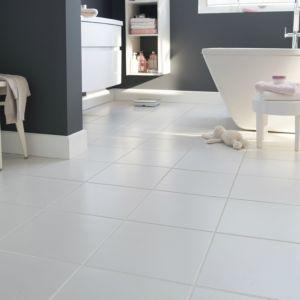 Monzie White Matt Ceramic Floor Tile Pack Of 16 L 300mm W 300mm
