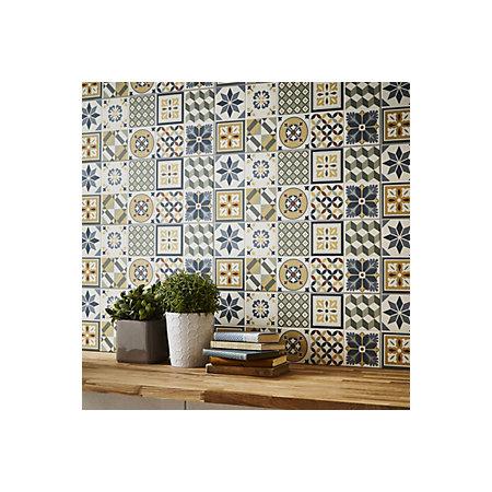 Konkrete Multicolour Matt Ceramic Wall Tile Pack Of 14 L 500mm W 200mm Departments Diy At B Q