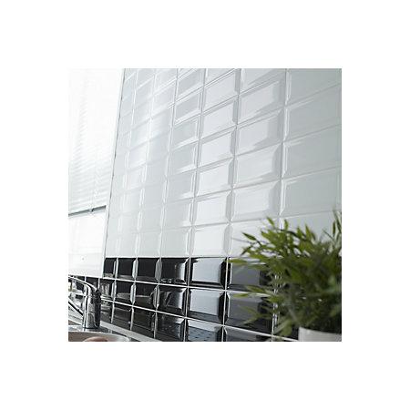 Trentie White Gloss Plain Ceramic Wall Sample Tile L