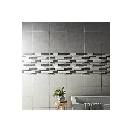 cimenti grey matt linear ceramic wall tile sample l 400mm w
