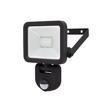 Blooma Weyburn Gloss Black Led Pir Motion Sensor Outdoor