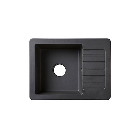 Compact Kitchen Sink Cooke lewis burnell 1 bowl black composite quartz compact sink 000 000 workwithnaturefo