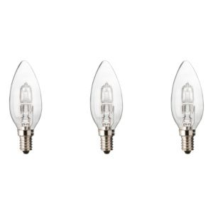 Diall Small Edison Screw Cap (E14) 46W Halogen Candle Light Bulb  Pack of 3