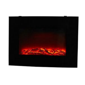 Blyss Murlo Black LED Remote Control Wall Hung Electric Fire