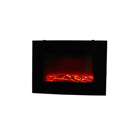 Blyss Murlo Black Led Remote Control Electric Fire