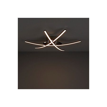 B And Q Kitchen Lights Alani chrome effect ceiling light departments diy at bq 000 000 workwithnaturefo