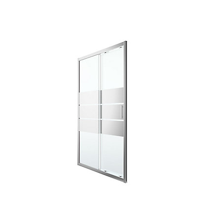Goodhome Beloya Mirror 2 Panel Sliding Shower Door W 1200mm Departments Diy At B Q