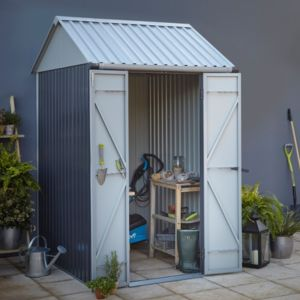Image of 1.7x1.3 Indus Apex Metal Shed