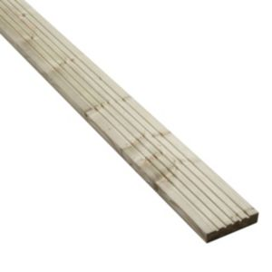 Image of Blooma Madeira Value Softwood Deck board (T)24mm (W)120mm (L)2400mm